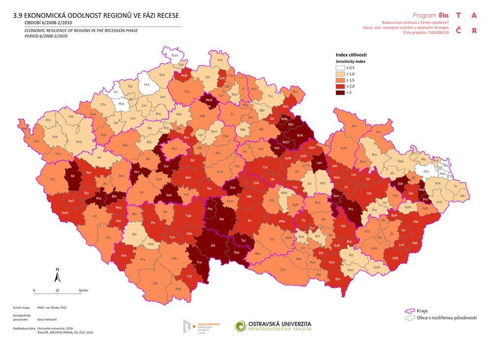 Ekonomická odolnost regionů ve fázi recese: období 6/2008–2/2010