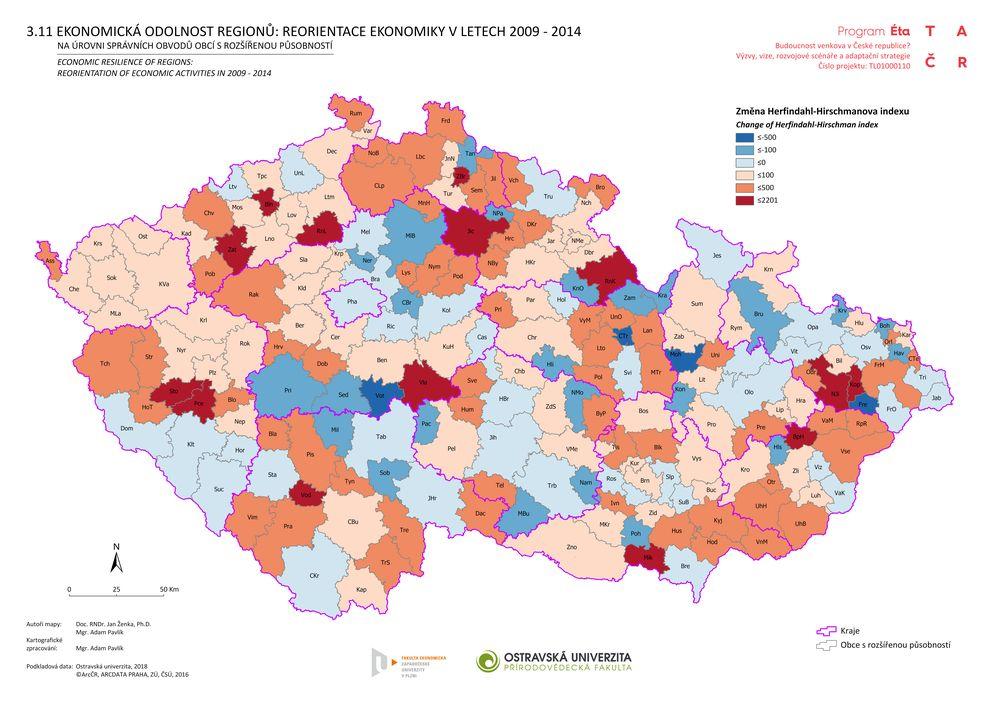 Ekonomická odolnost regionů: reorientace ekonomiky v letech 2009-2014